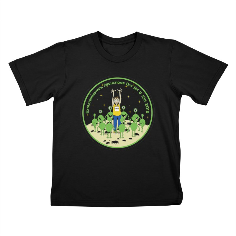 ExtraTerrestrials Abduction Day 5K & 10K Kids T-Shirt by moonjoggers's Artist Shop