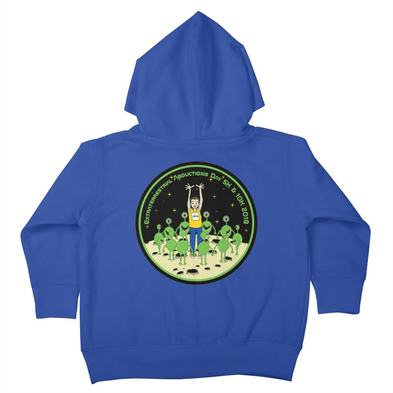 ExtraTerrestrials Abduction Day 5K & 10K Kids Toddler Zip-Up Hoody by moonjoggers's Artist Shop