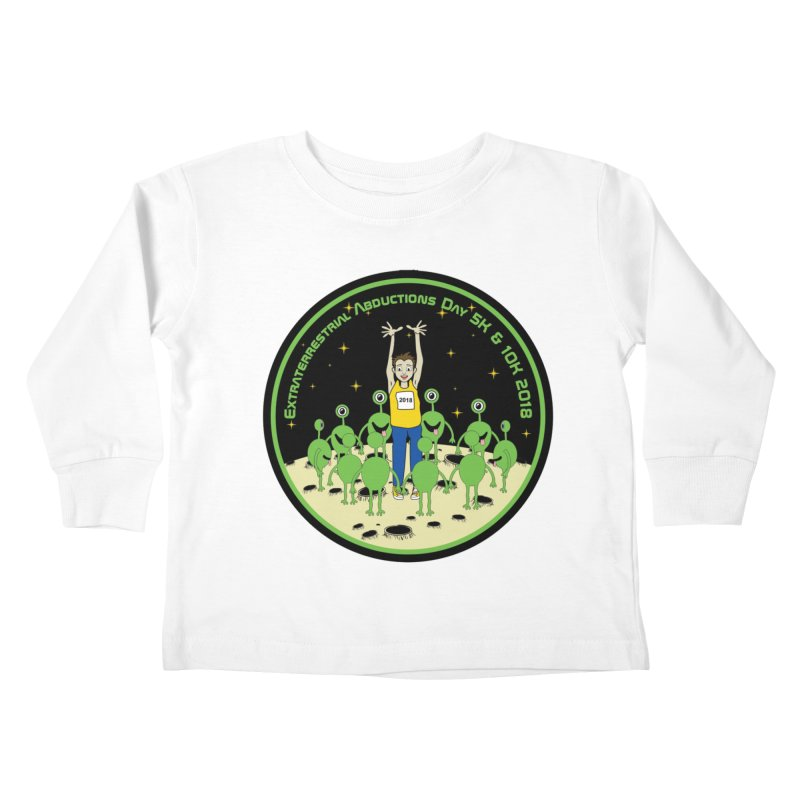 ExtraTerrestrials Abduction Day 5K & 10K Kids Toddler Longsleeve T-Shirt by moonjoggers's Artist Shop