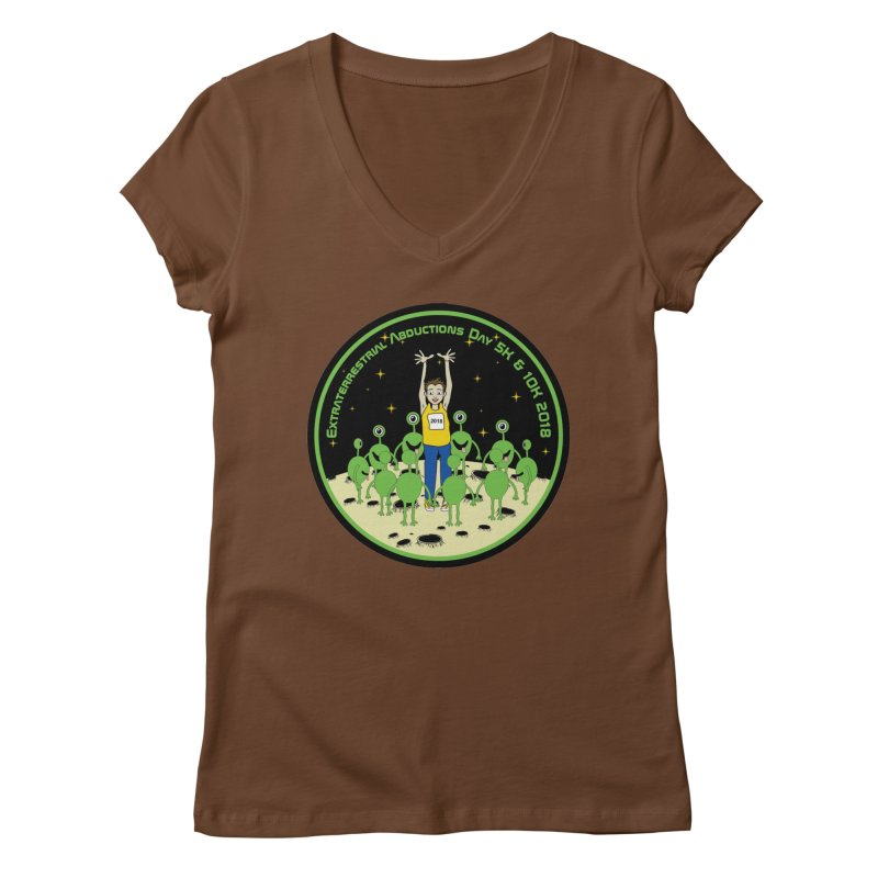 ExtraTerrestrials Abduction Day 5K & 10K Women's V-Neck by moonjoggers's Artist Shop