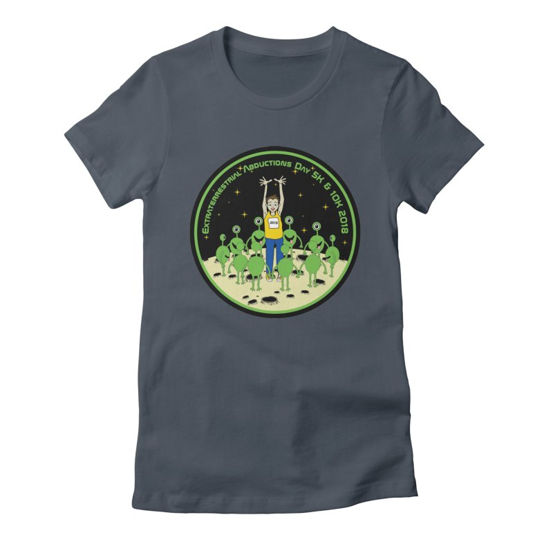 ExtraTerrestrials Abduction Day 5K & 10K Women's Fitted T-Shirt by moonjoggers's Artist Shop