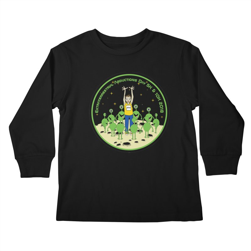 ExtraTerrestrials Abduction Day 5K & 10K Kids Longsleeve T-Shirt by moonjoggers's Artist Shop
