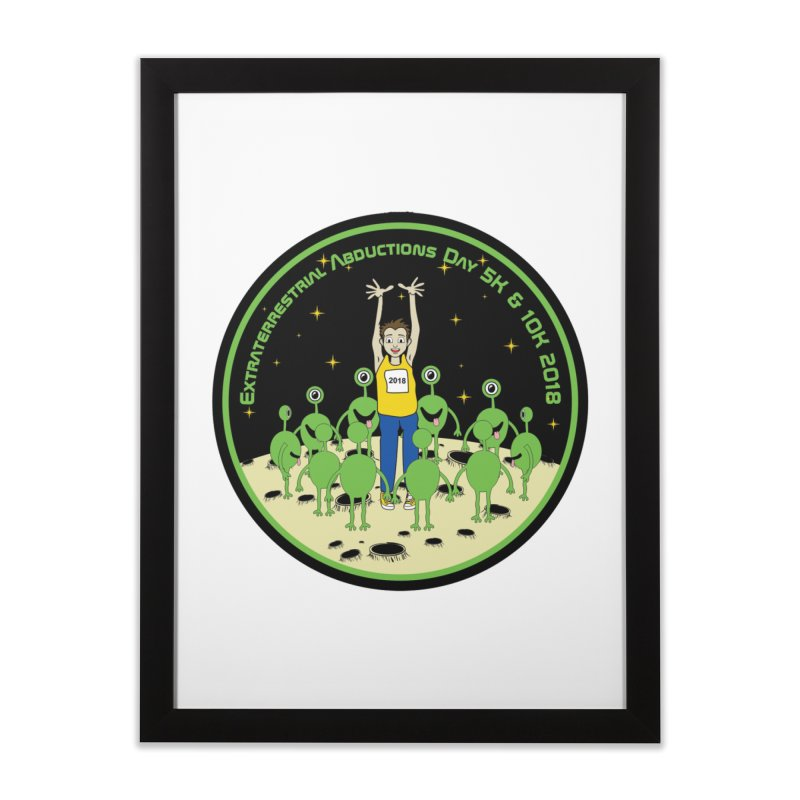 ExtraTerrestrials Abduction Day 5K & 10K Home Framed Fine Art Print by moonjoggers's Artist Shop
