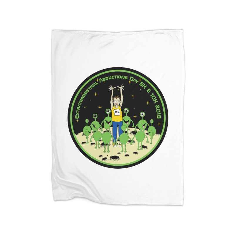 ExtraTerrestrials Abduction Day 5K & 10K Home Blanket by moonjoggers's Artist Shop