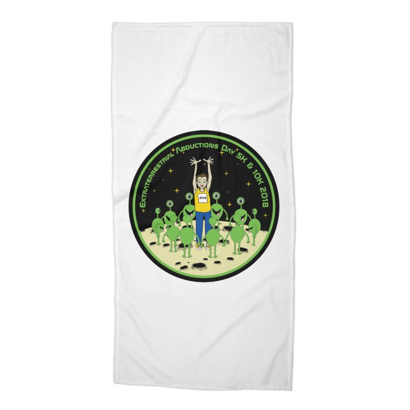 ExtraTerrestrials Abduction Day 5K & 10K Accessories Beach Towel by moonjoggers's Artist Shop