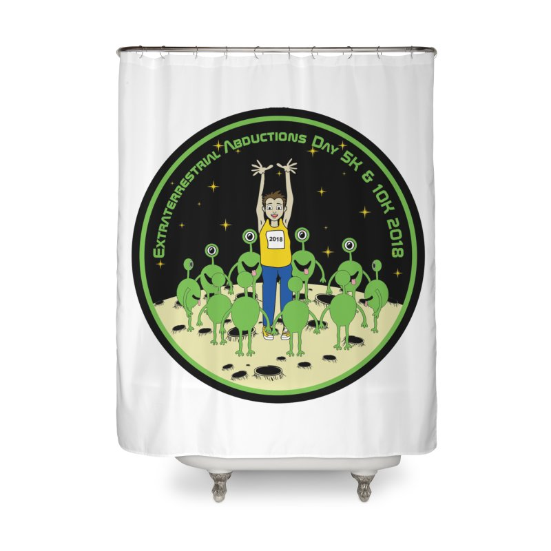 ExtraTerrestrials Abduction Day 5K & 10K Home Shower Curtain by moonjoggers's Artist Shop