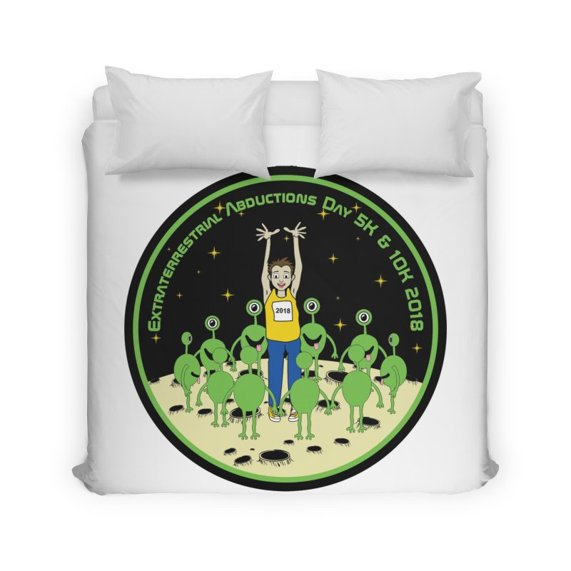 ExtraTerrestrials Abduction Day 5K & 10K Home Duvet by moonjoggers's Artist Shop