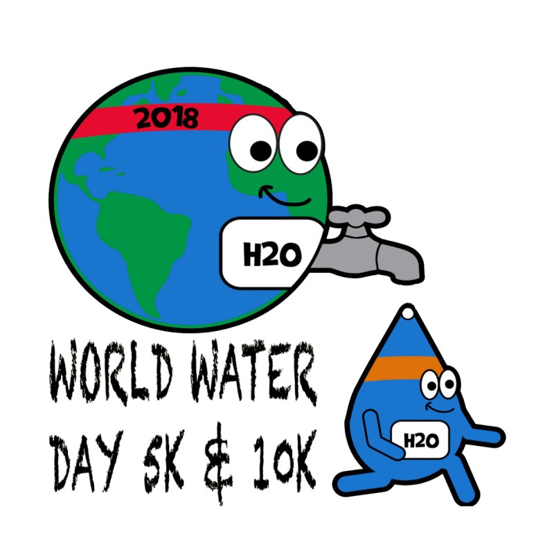 World Water Day 5K & 10K by moonjoggers's Artist Shop