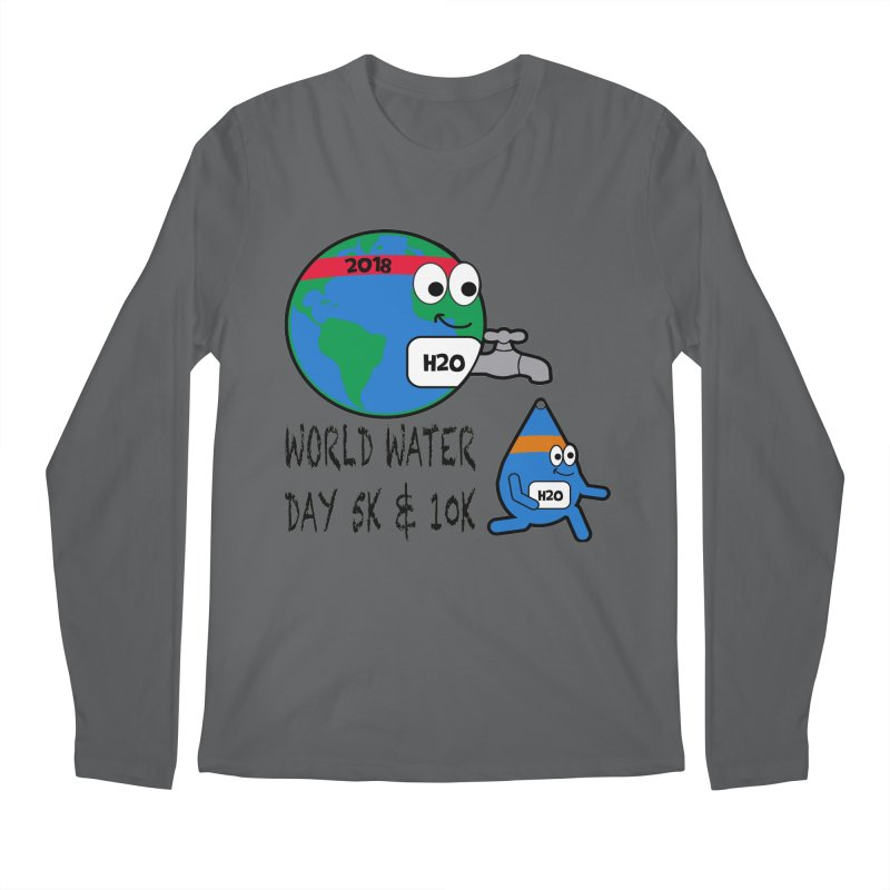 World Water Day 5K & 10K Men's Longsleeve T-Shirt by moonjoggers's Artist Shop
