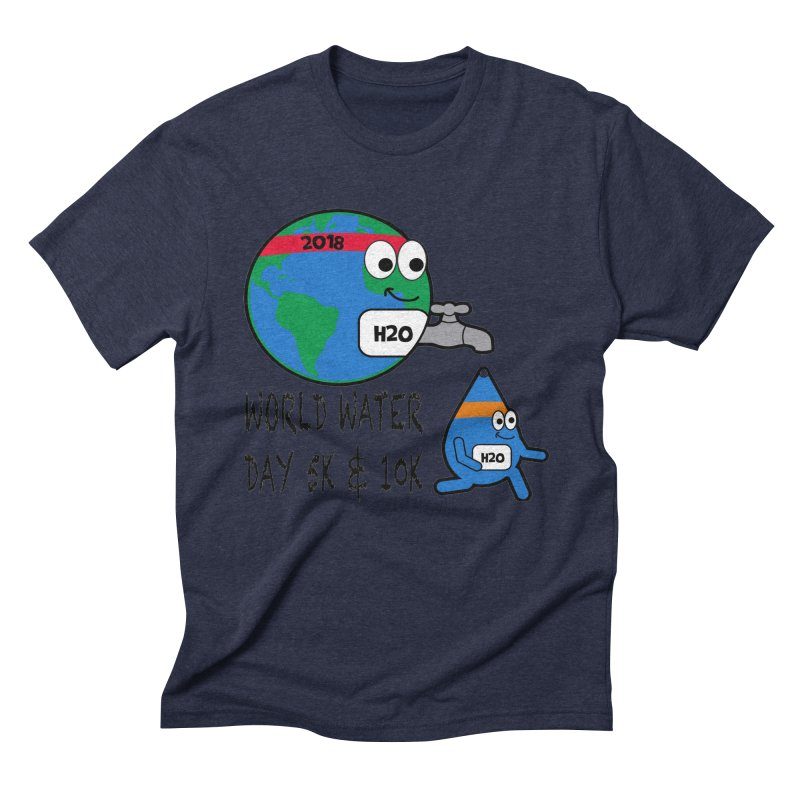 World Water Day 5K & 10K Men's Triblend T-Shirt by moonjoggers's Artist Shop
