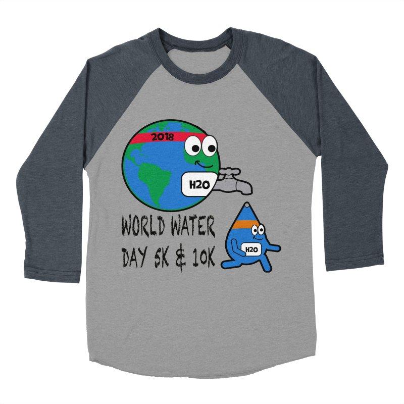World Water Day 5K & 10K Women's Baseball Triblend T-Shirt by moonjoggers's Artist Shop