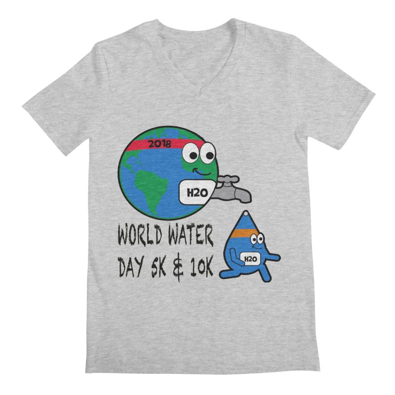 World Water Day 5K & 10K Men's V-Neck by moonjoggers's Artist Shop