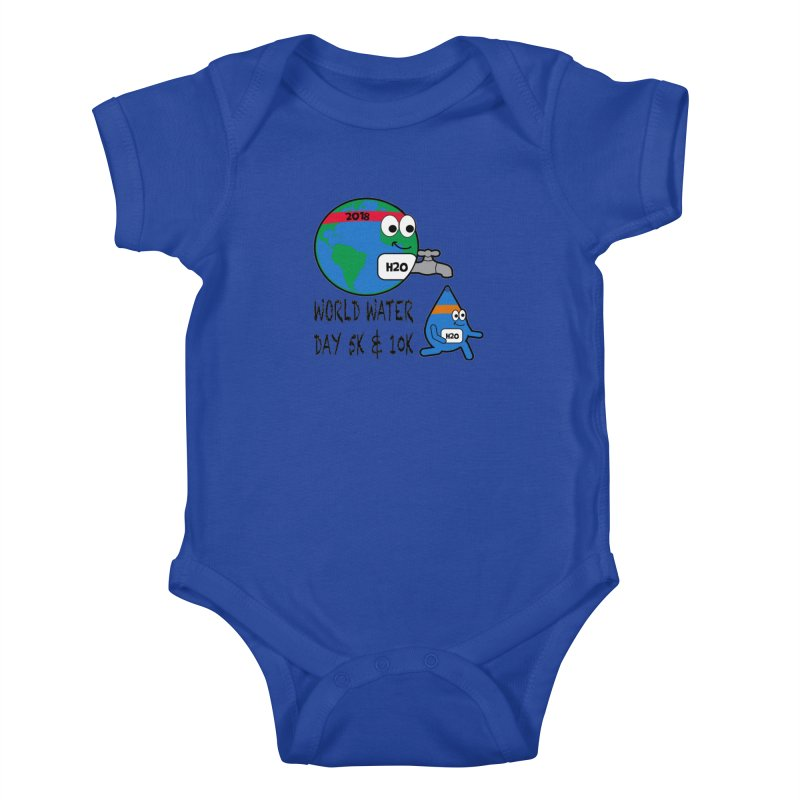 World Water Day 5K & 10K Kids Baby Bodysuit by moonjoggers's Artist Shop