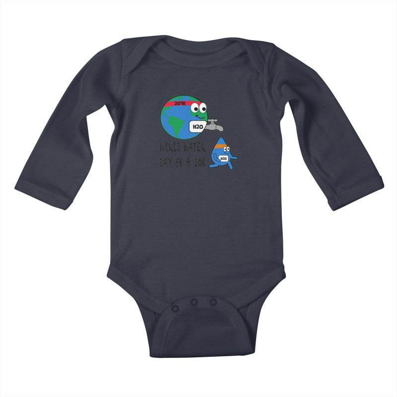 World Water Day 5K & 10K Kids Baby Longsleeve Bodysuit by moonjoggers's Artist Shop