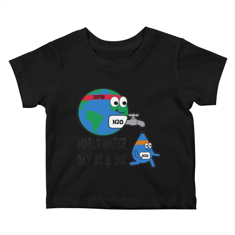 World Water Day 5K & 10K Kids Baby T-Shirt by moonjoggers's Artist Shop
