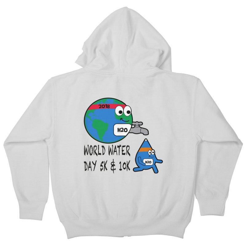 World Water Day 5K & 10K Kids Zip-Up Hoody by moonjoggers's Artist Shop