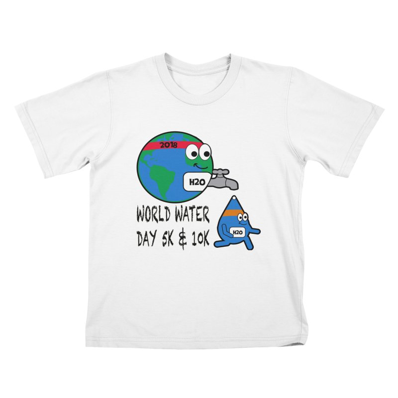 World Water Day 5K & 10K Kids T-Shirt by moonjoggers's Artist Shop