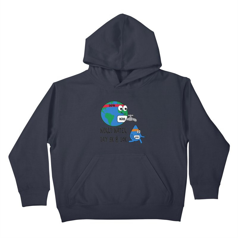 World Water Day 5K & 10K Kids Pullover Hoody by moonjoggers's Artist Shop