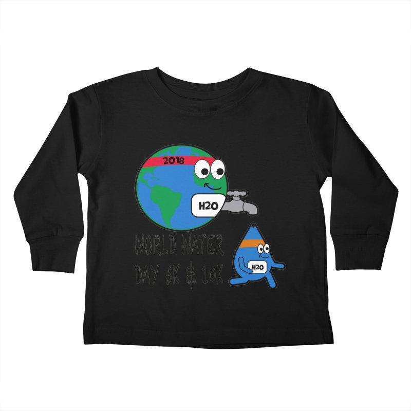 World Water Day 5K & 10K Kids Toddler Longsleeve T-Shirt by moonjoggers's Artist Shop