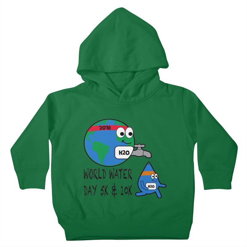 World Water Day 5K & 10K Kids Toddler Pullover Hoody by moonjoggers's Artist Shop