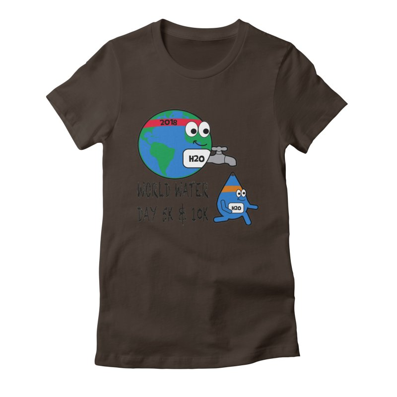 World Water Day 5K & 10K Women's Fitted T-Shirt by moonjoggers's Artist Shop