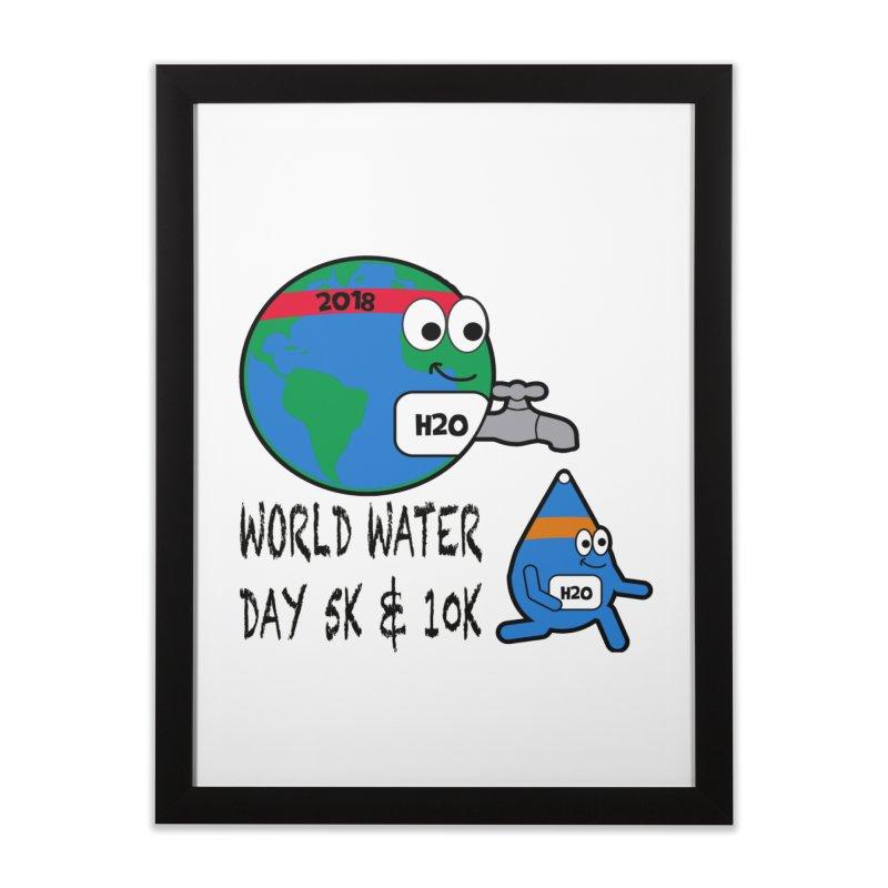 World Water Day 5K & 10K Home Framed Fine Art Print by moonjoggers's Artist Shop