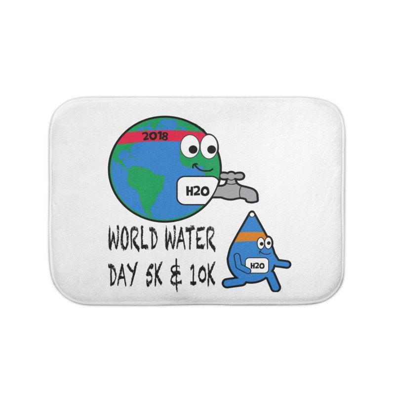 World Water Day 5K & 10K Home Bath Mat by moonjoggers's Artist Shop