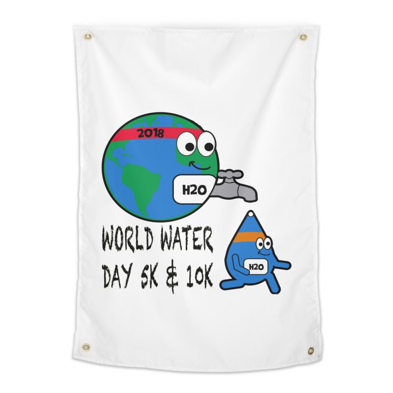 World Water Day 5K & 10K Home Tapestry by moonjoggers's Artist Shop