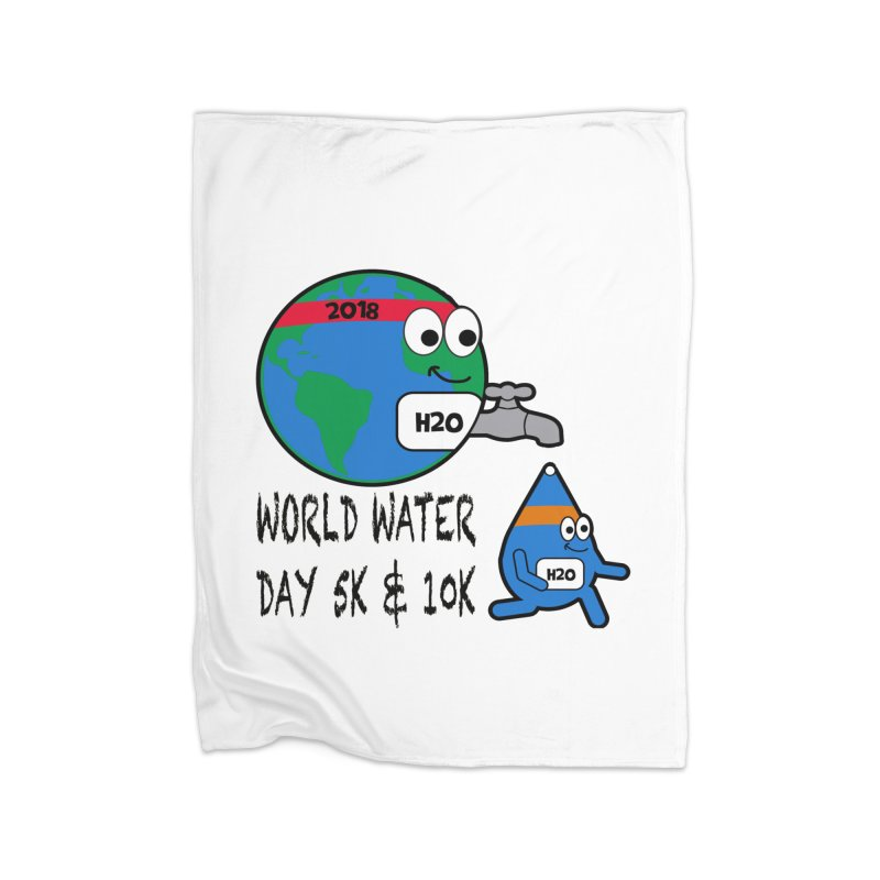World Water Day 5K & 10K Home Blanket by moonjoggers's Artist Shop