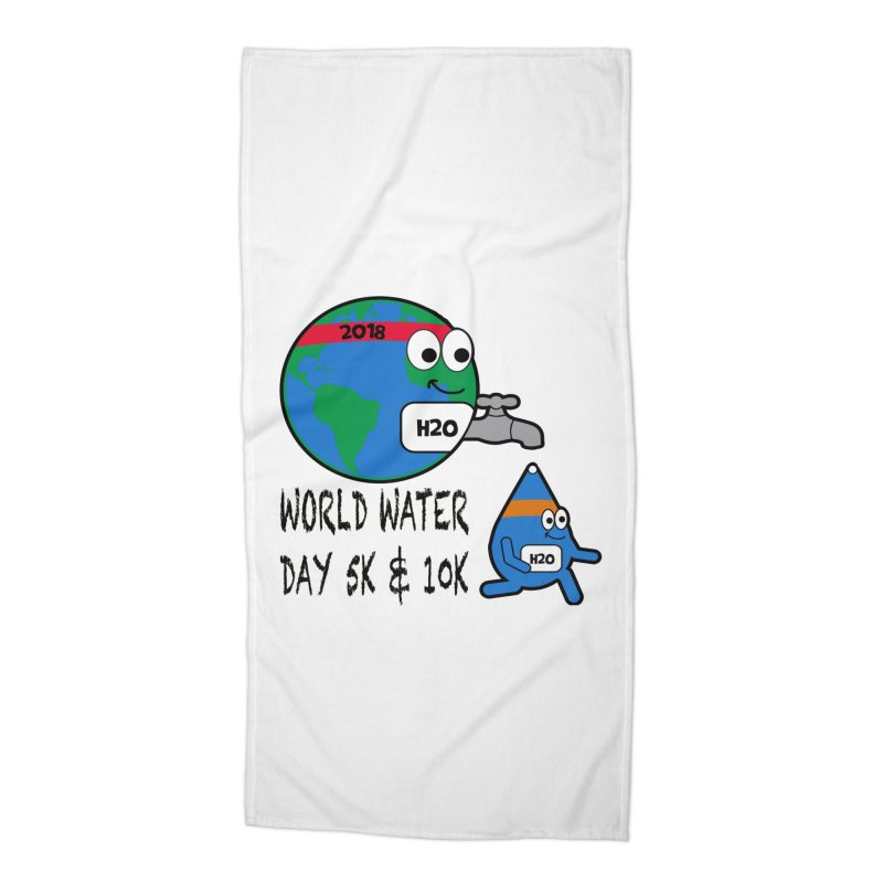 World Water Day 5K & 10K Accessories Beach Towel by moonjoggers's Artist Shop