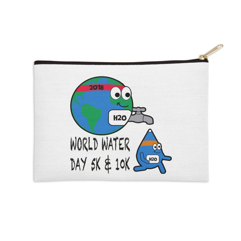 World Water Day 5K & 10K Accessories Zip Pouch by moonjoggers's Artist Shop