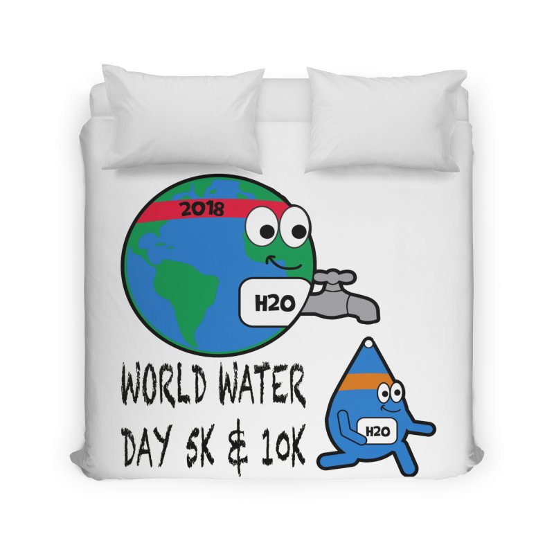 World Water Day 5K & 10K Home Duvet by moonjoggers's Artist Shop