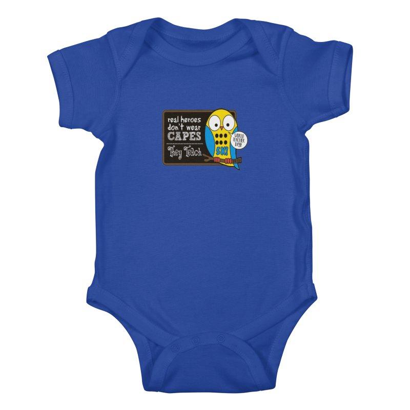 World Teacher Day 5K Kids Baby Bodysuit by moonjoggers's Artist Shop