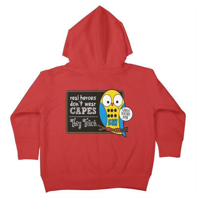World Teacher Day 5K Kids Toddler Zip-Up Hoody by moonjoggers's Artist Shop