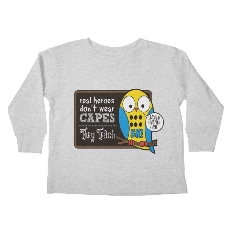 World Teacher Day 5K Kids Toddler Longsleeve T-Shirt by moonjoggers's Artist Shop