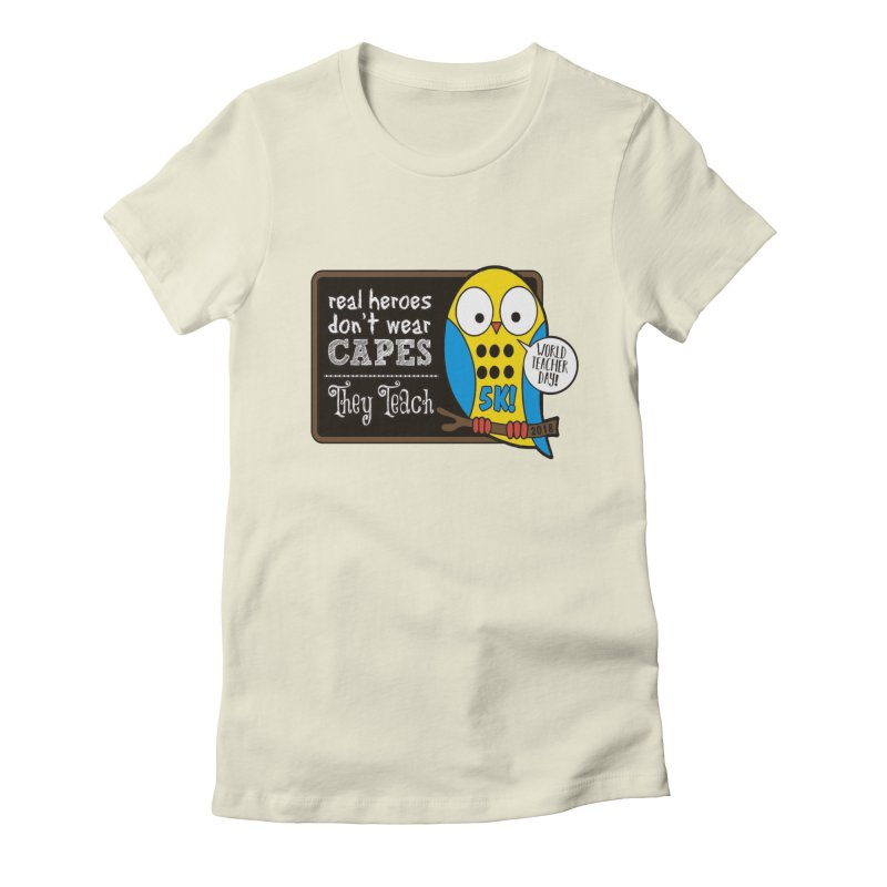 World Teacher Day 5K Women's Fitted T-Shirt by moonjoggers's Artist Shop