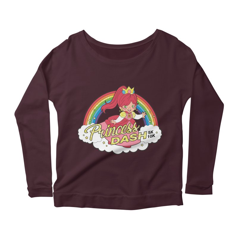 Princess Dash 5K & 10K Women's Longsleeve Scoopneck  by moonjoggers's Artist Shop