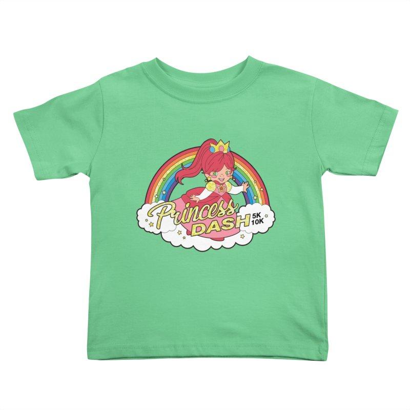 Princess Dash 5K & 10K Kids Toddler T-Shirt by moonjoggers's Artist Shop