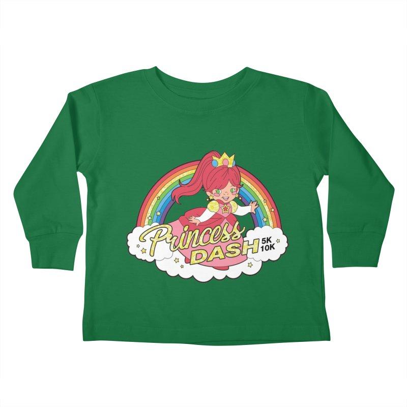 Princess Dash 5K & 10K Kids Toddler Longsleeve T-Shirt by moonjoggers's Artist Shop