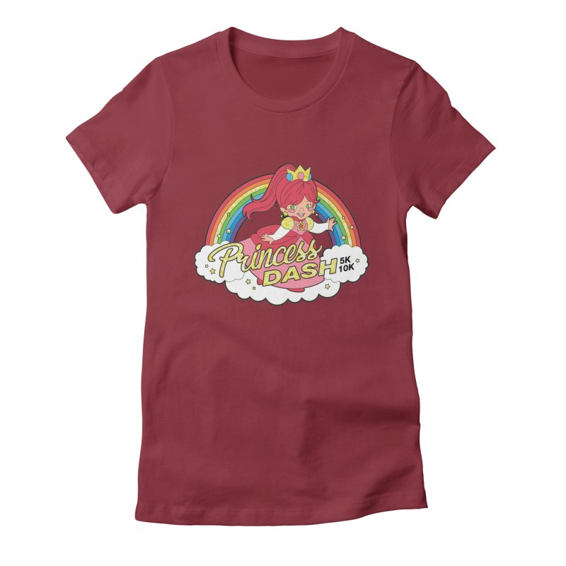 Princess Dash 5K & 10K Women's Fitted T-Shirt by moonjoggers's Artist Shop