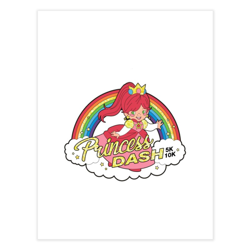 Princess Dash 5K & 10K Home Fine Art Print by moonjoggers's Artist Shop