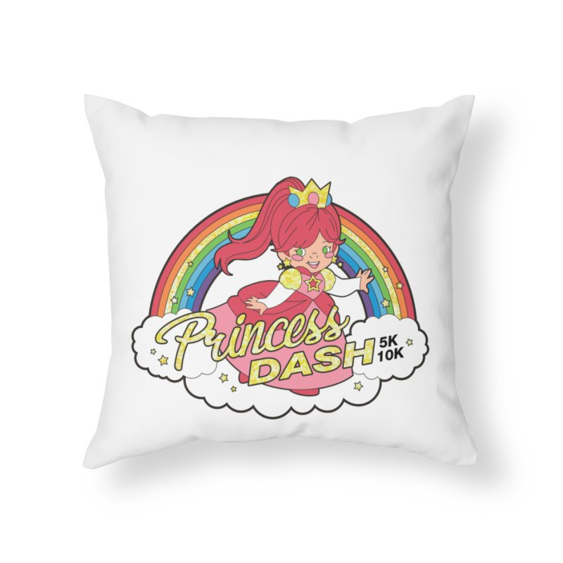 Princess Dash 5K & 10K Home Throw Pillow by moonjoggers's Artist Shop