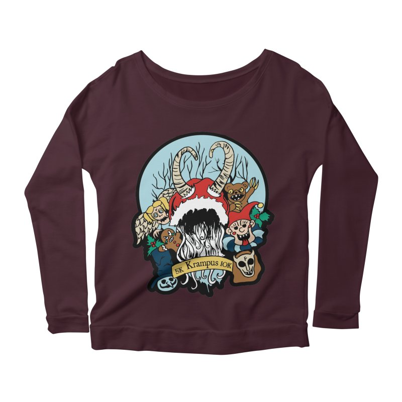 Krampus 5K & 10K Women's Longsleeve Scoopneck  by moonjoggers's Artist Shop