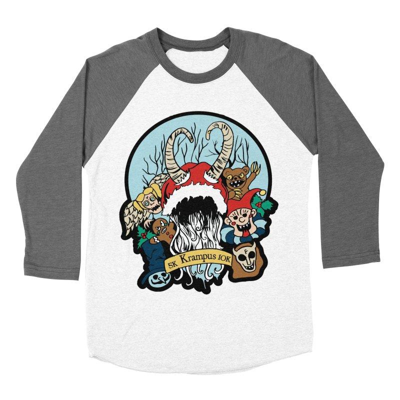 Krampus 5K & 10K Women's Baseball Triblend T-Shirt by moonjoggers's Artist Shop