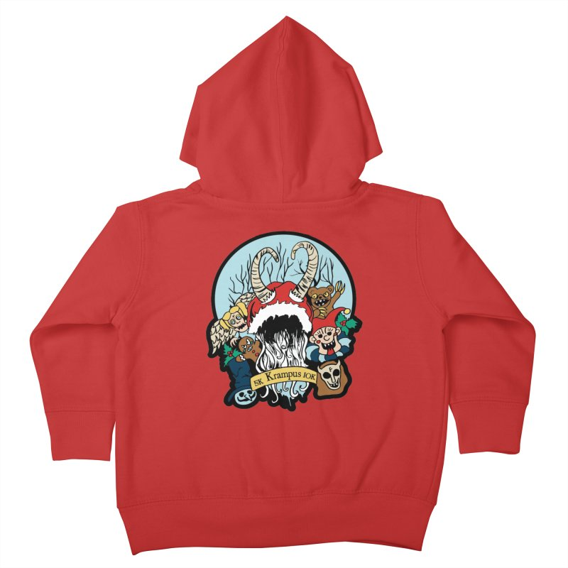 Krampus 5K & 10K Kids Toddler Zip-Up Hoody by moonjoggers's Artist Shop