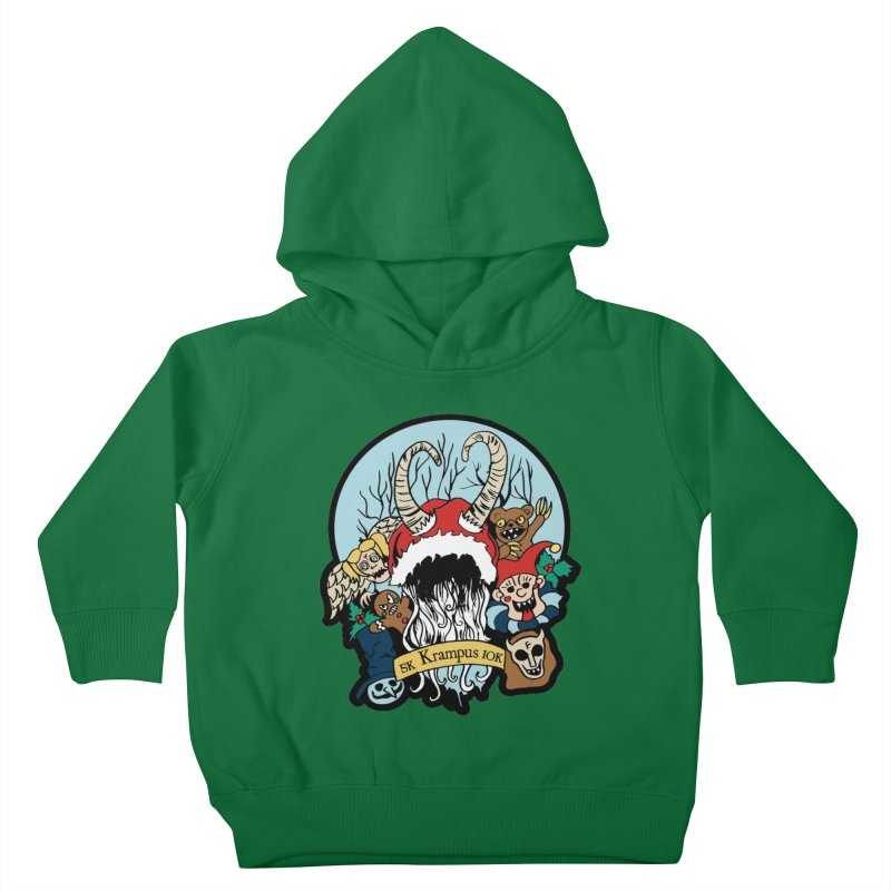 Krampus 5K & 10K Kids Toddler Pullover Hoody by moonjoggers's Artist Shop