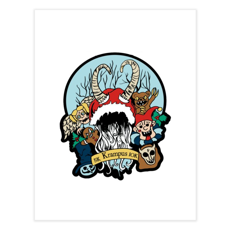 Krampus 5K & 10K Home Fine Art Print by moonjoggers's Artist Shop