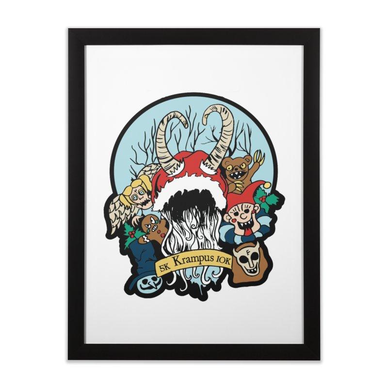 Krampus 5K & 10K Home Framed Fine Art Print by moonjoggers's Artist Shop