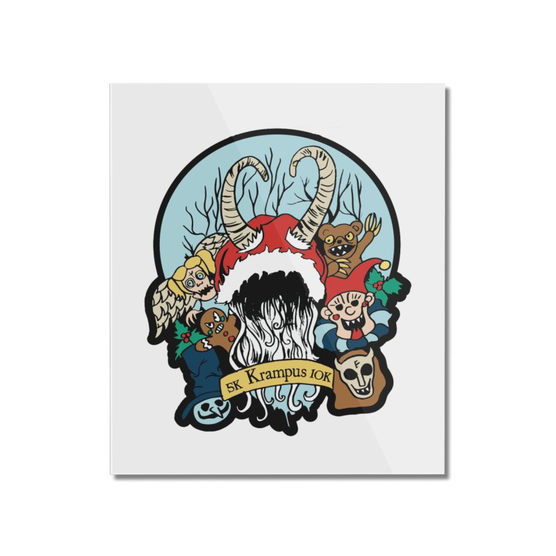 Krampus 5K & 10K Home Mounted Acrylic Print by moonjoggers's Artist Shop