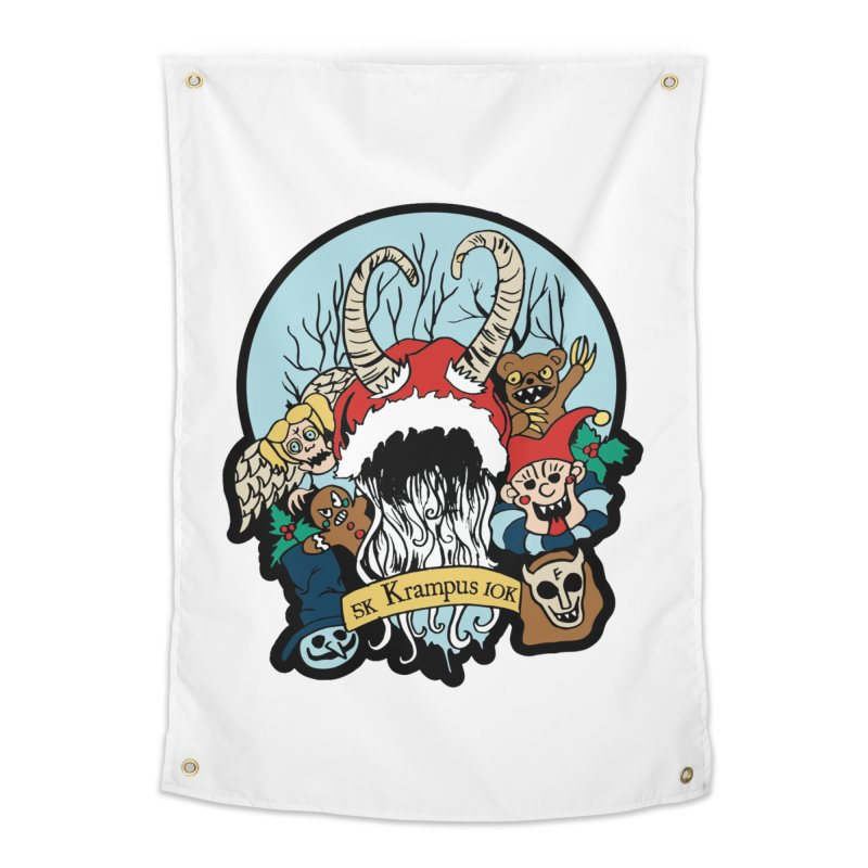 Krampus 5K & 10K Home Tapestry by moonjoggers's Artist Shop